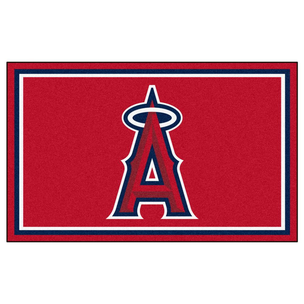 Fanmats Los Angeles Angels 4 Ft X 6 Ft Area Rug 7065