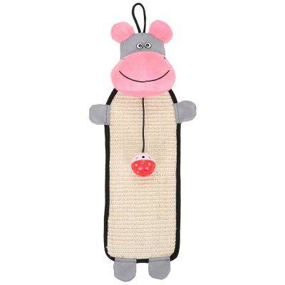 Pink / Grey Paw-Pleasant Eco-Natural Sisal and Jute Hanging Carpet Kitty Cat Scratcher with Toy