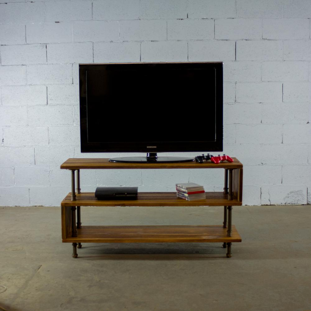 Furniture pipeline tucson modern industrial brown 48 in wide tv stand living rec room