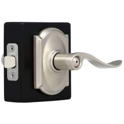Camelot Collection Accent Satin Nickel Bed and Bath Lever