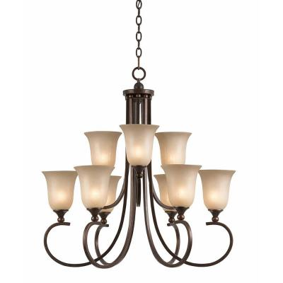 Purelife 9-Light Bronze Chandelier