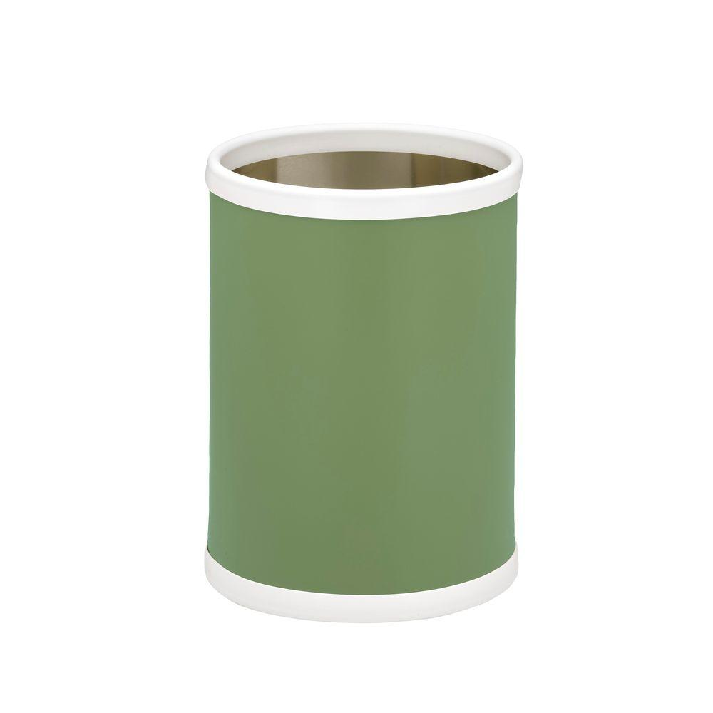 Fun Colors 8 Qt. Mist Green Round Waste Basket