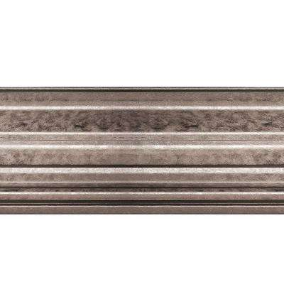 Classic 1.063 in. x 6 in. x 96 in. Wood Ceiling Crown Molding in Galvanized Steel