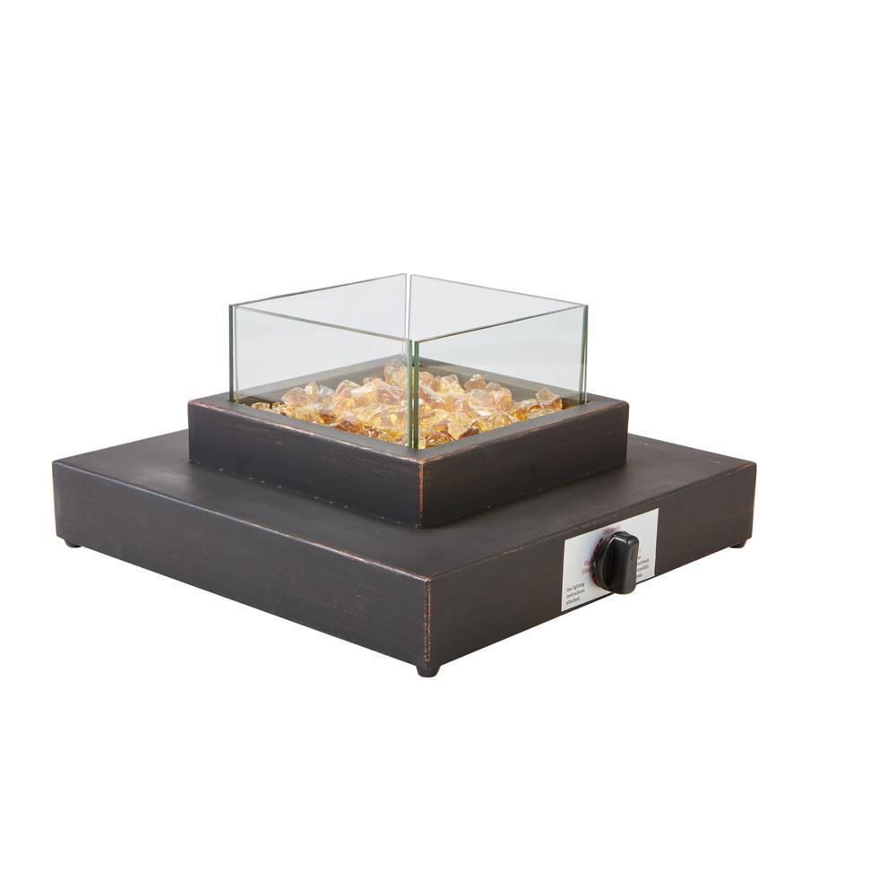 8,000BTU Antique Bronze Portable Table Top Gas Fire Pit