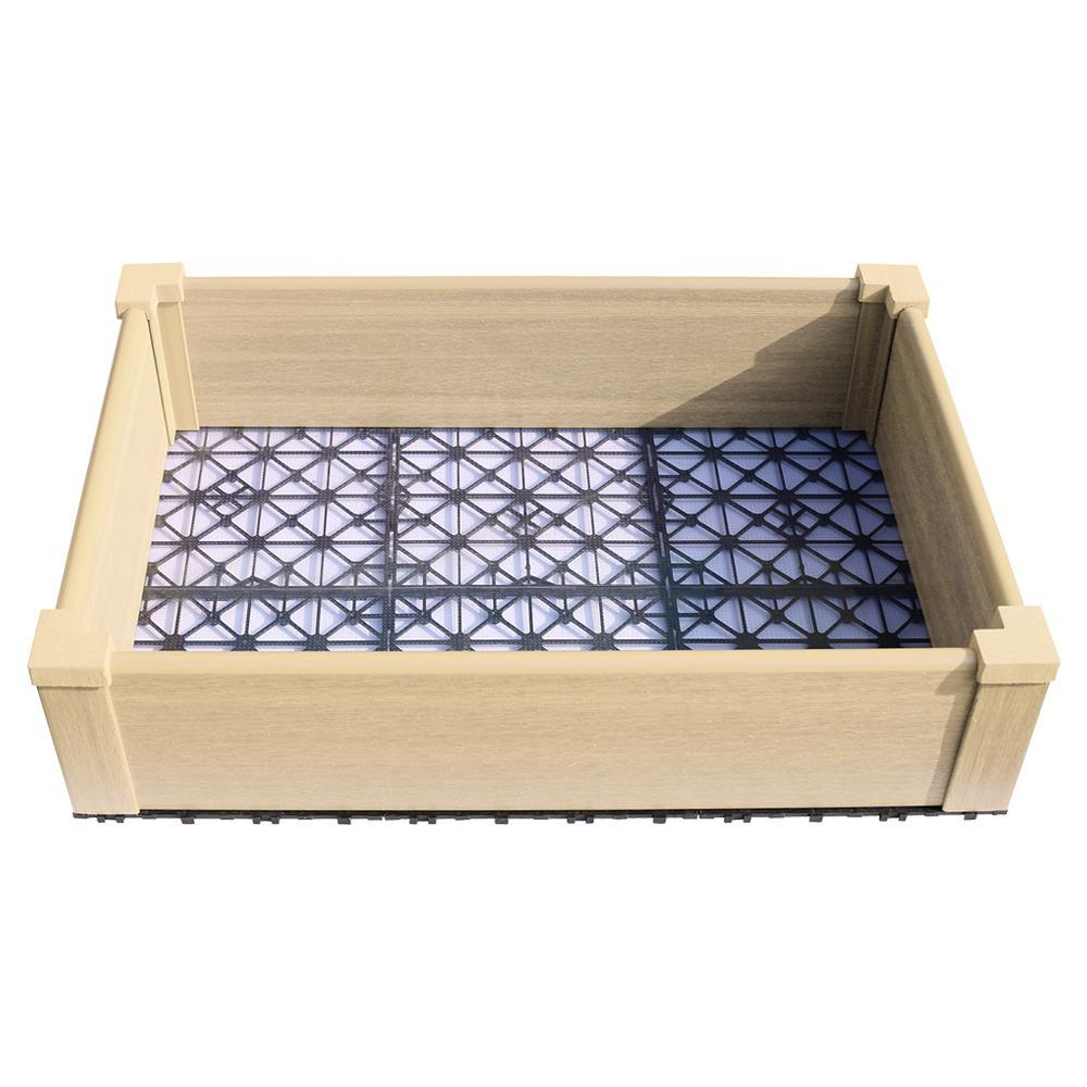 24 in. x 36 in. Japanese Cedar Composite Lumber Patio Raised Garden Bed Kit