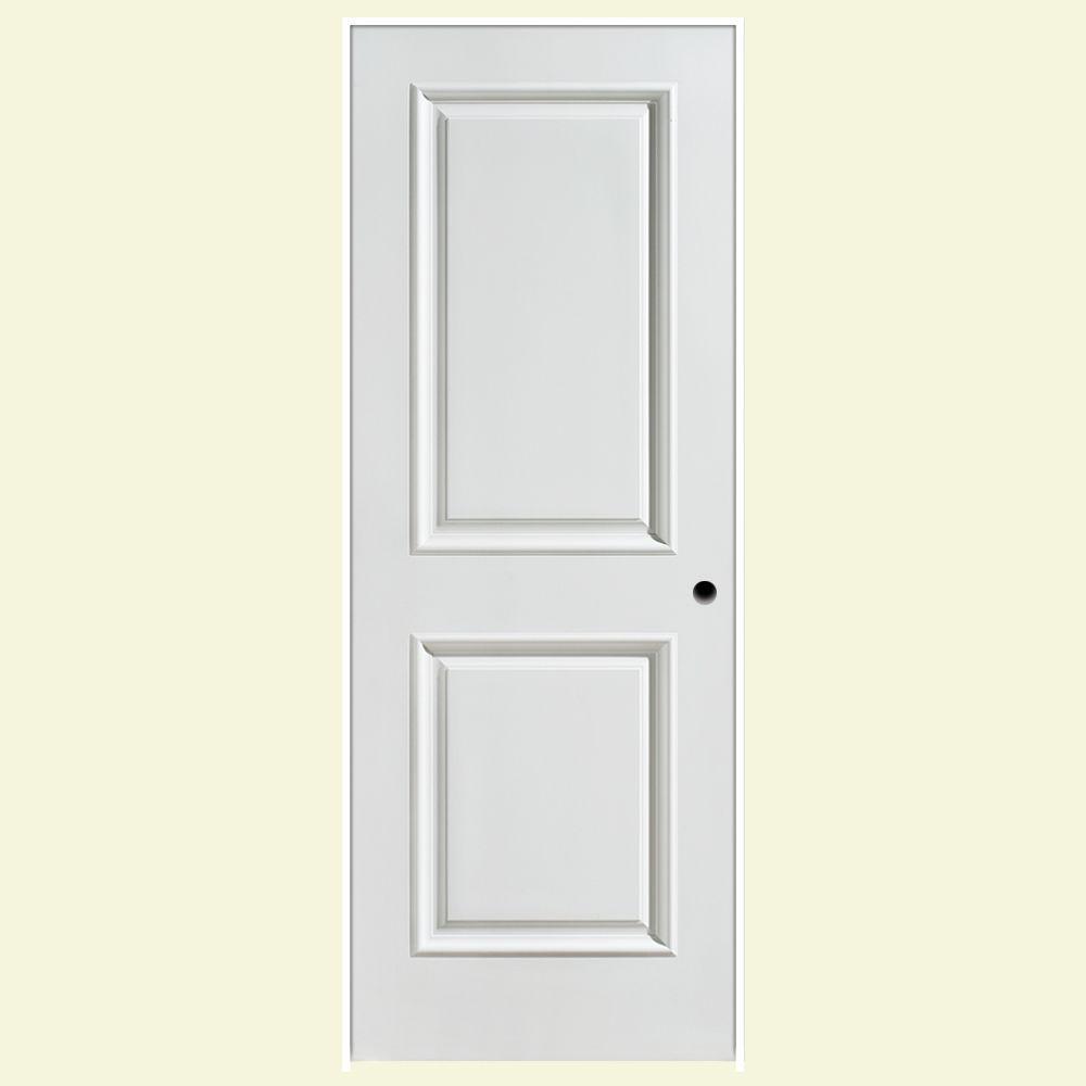 Masonite 30 in. x 80 in. Palazzo Capri 2-Panel Square Top Solid-Core Smooth Primed Composite Single Prehung Interior Door