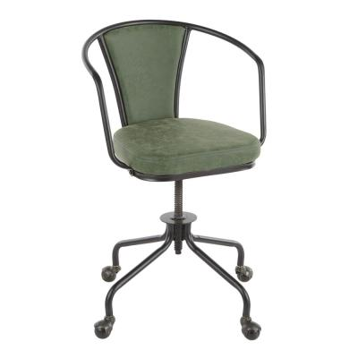 Oregon Industrial Green Faux Leather Upholstered Task Chair