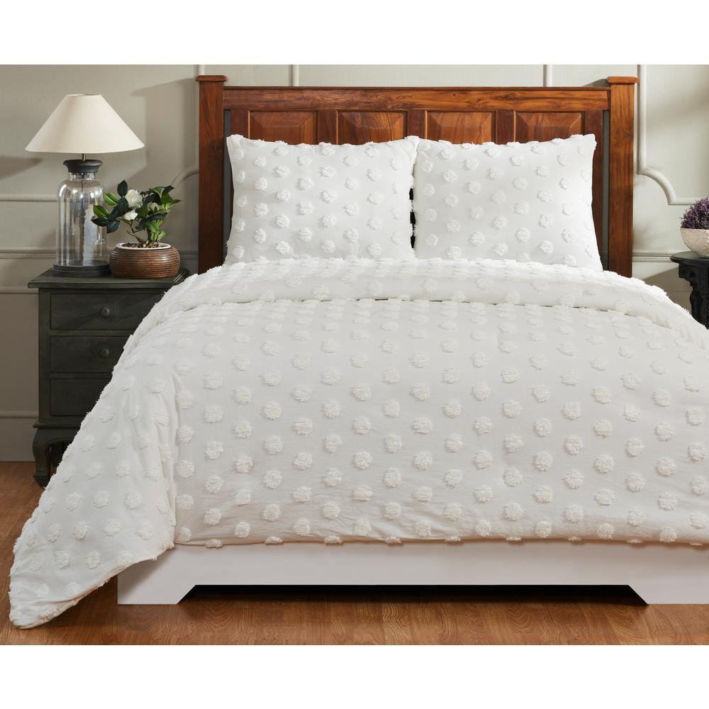 Better Trends Atenia Ivory King Comforter SS-QUATKIIV