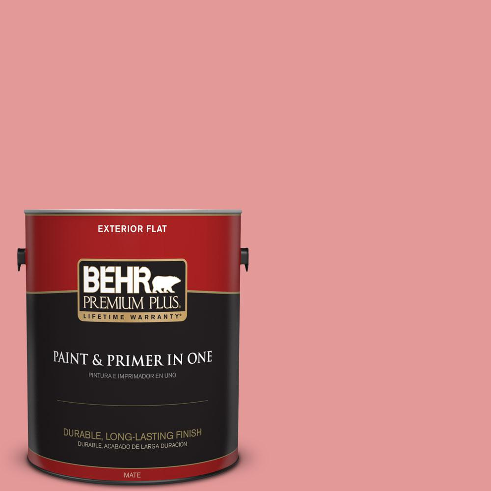 BEHR Premium Plus 1-gal. #M160-4 She Loves Pink Flat Exterior Paint