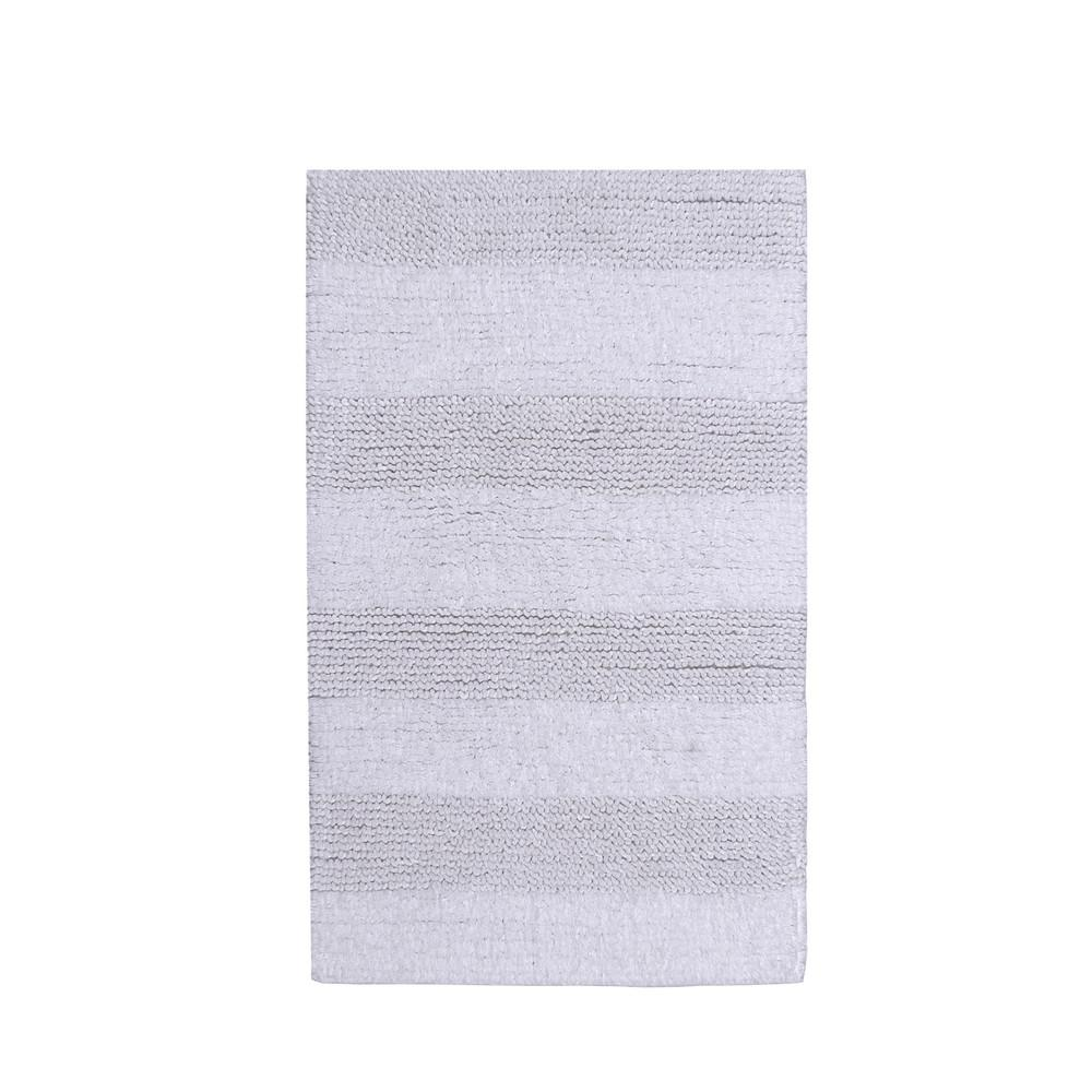 Wide Cut White 22 in. x 60 in. Reversible Bath Rug