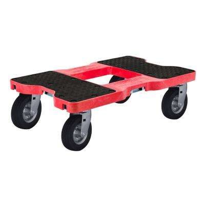 1,500 lbs. Capacity Air-Ride Professional E-Track Dolly in Red