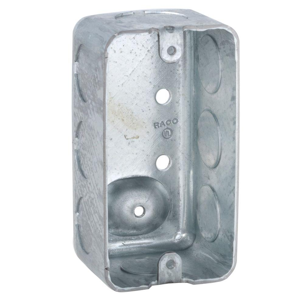 Single ...  sc 1 st  The Home Depot & Junction box - Boxes u0026 Brackets - Electrical Boxes Conduit ... Aboutintivar.Com