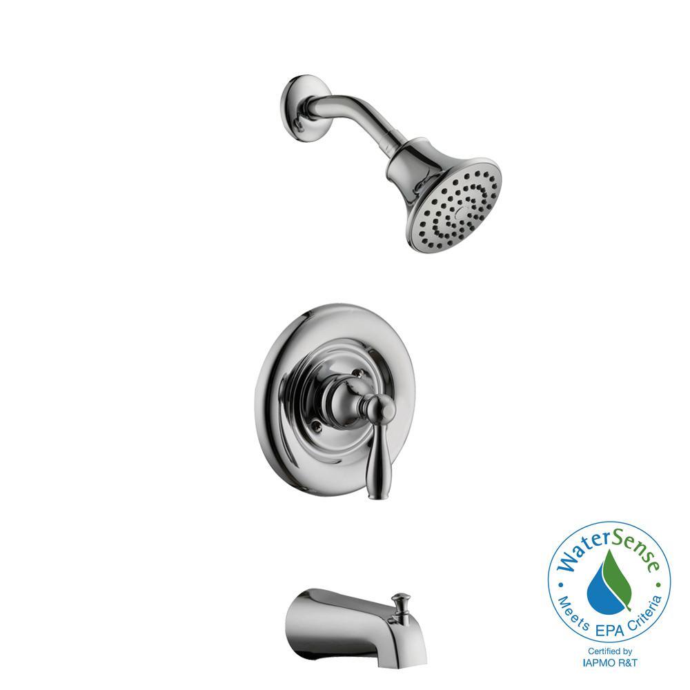 Glacier Bay Mandouri Single-Handle 1-Spray Tub and Shower Faucet in Chrome (Valve Included) by Glacier Bay