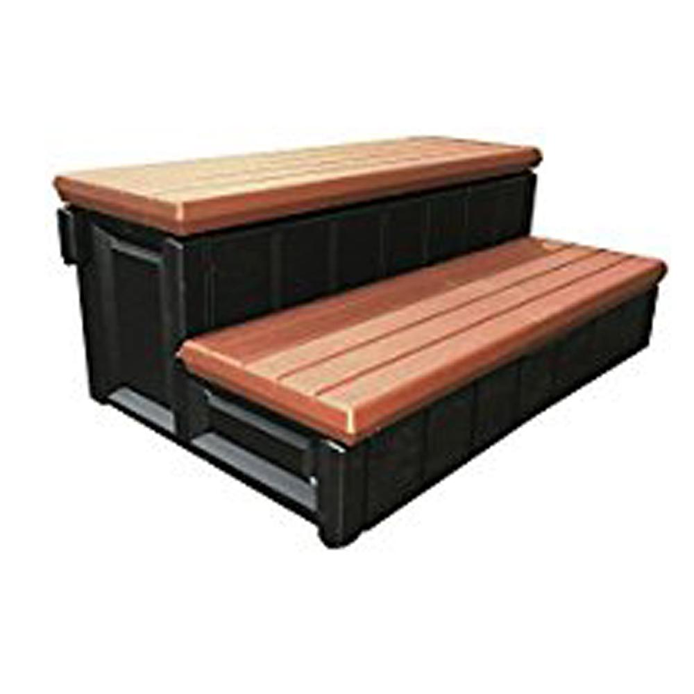 Confer Plastics 2-Tone Hot Tub Steps in Red and Black