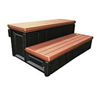 2-Tone Hot Tub Steps in Red and Black