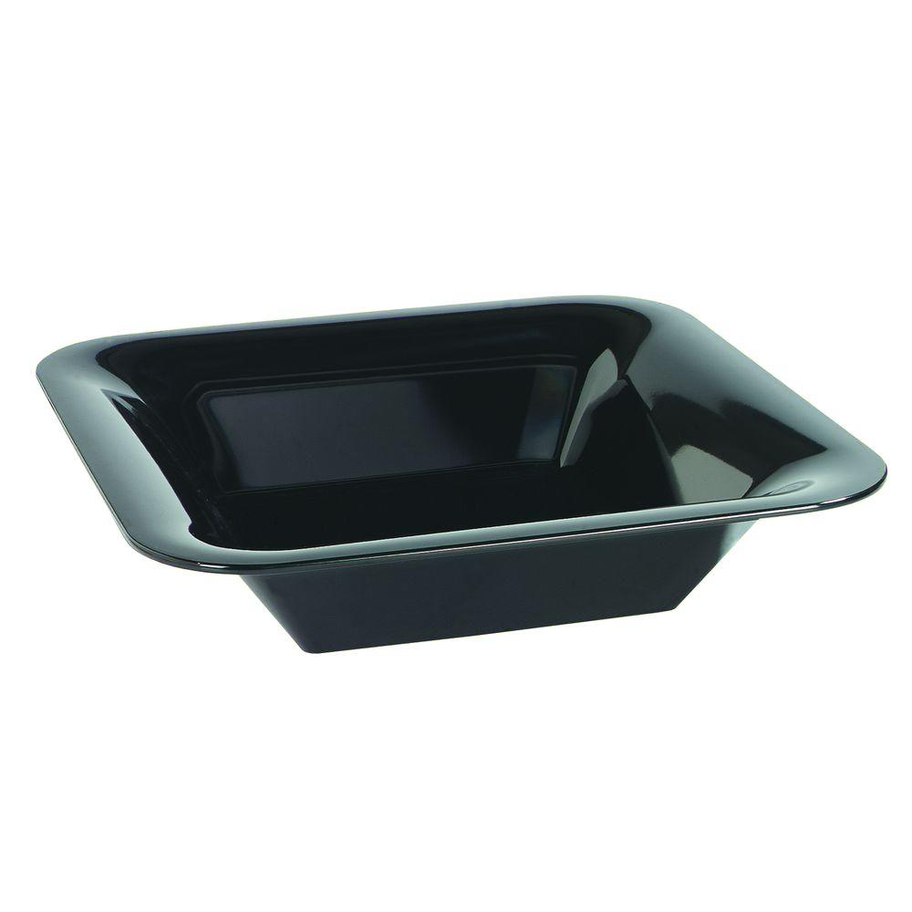 14 in. Square Melamine Designer Displayware Wide Rim Bowl in Black