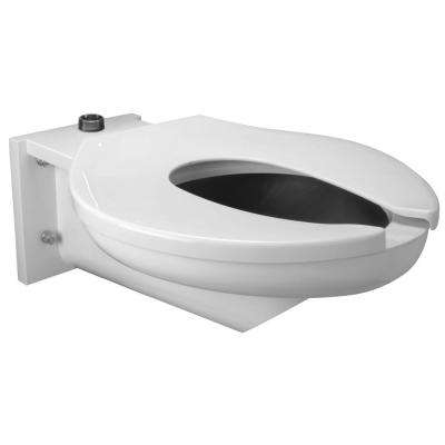 1-Piece 1.6 GPF Single Flush Elongated Toilet in Stainless Steel with Seat