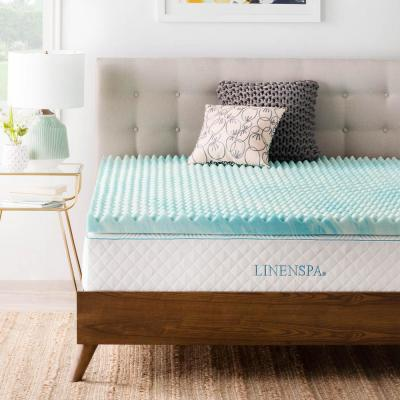 Lucid 3 In Queen Gel Infused Memory Foam Mattress Topper