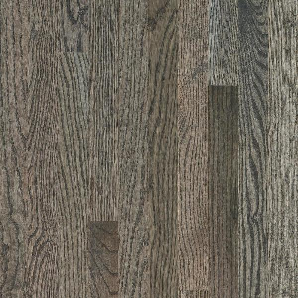 Plano Low Gloss Gray Oak 3/4 in. T x 3-1/4 in. W x Varying Length Solid Hardwood Flooring (22 sq. ft./case)