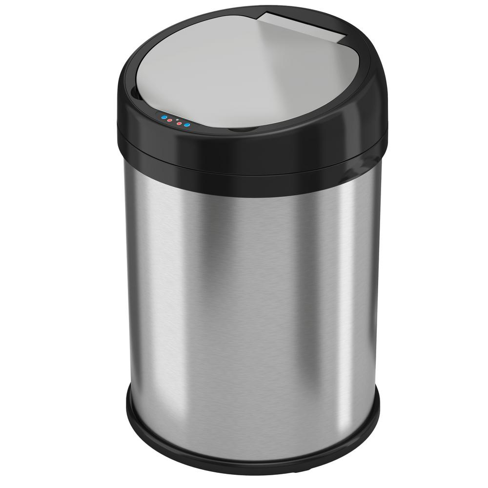 Halo 8 Gal. Round Extra-Wide opening Stainless Steel Auto...