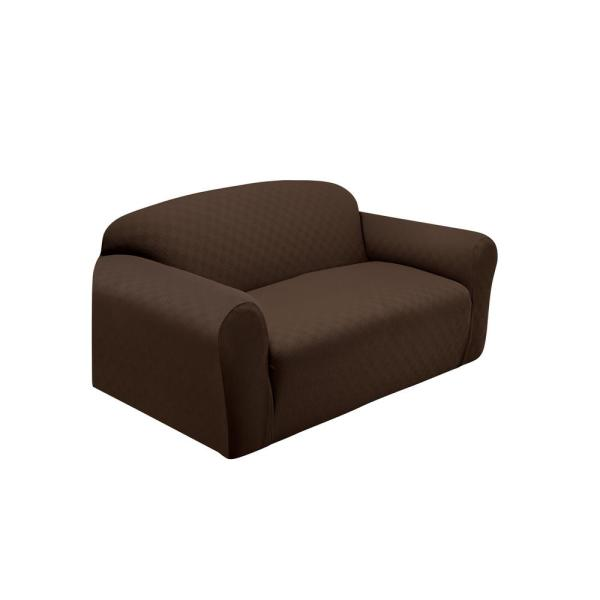 Stretch Sensations Chocolate Newport Loveseat Stretch Slipcover NEWLOVECHOCOLATE