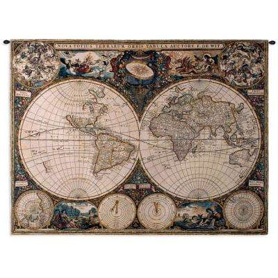 Old World Map Multi Colored Wall Tapestry