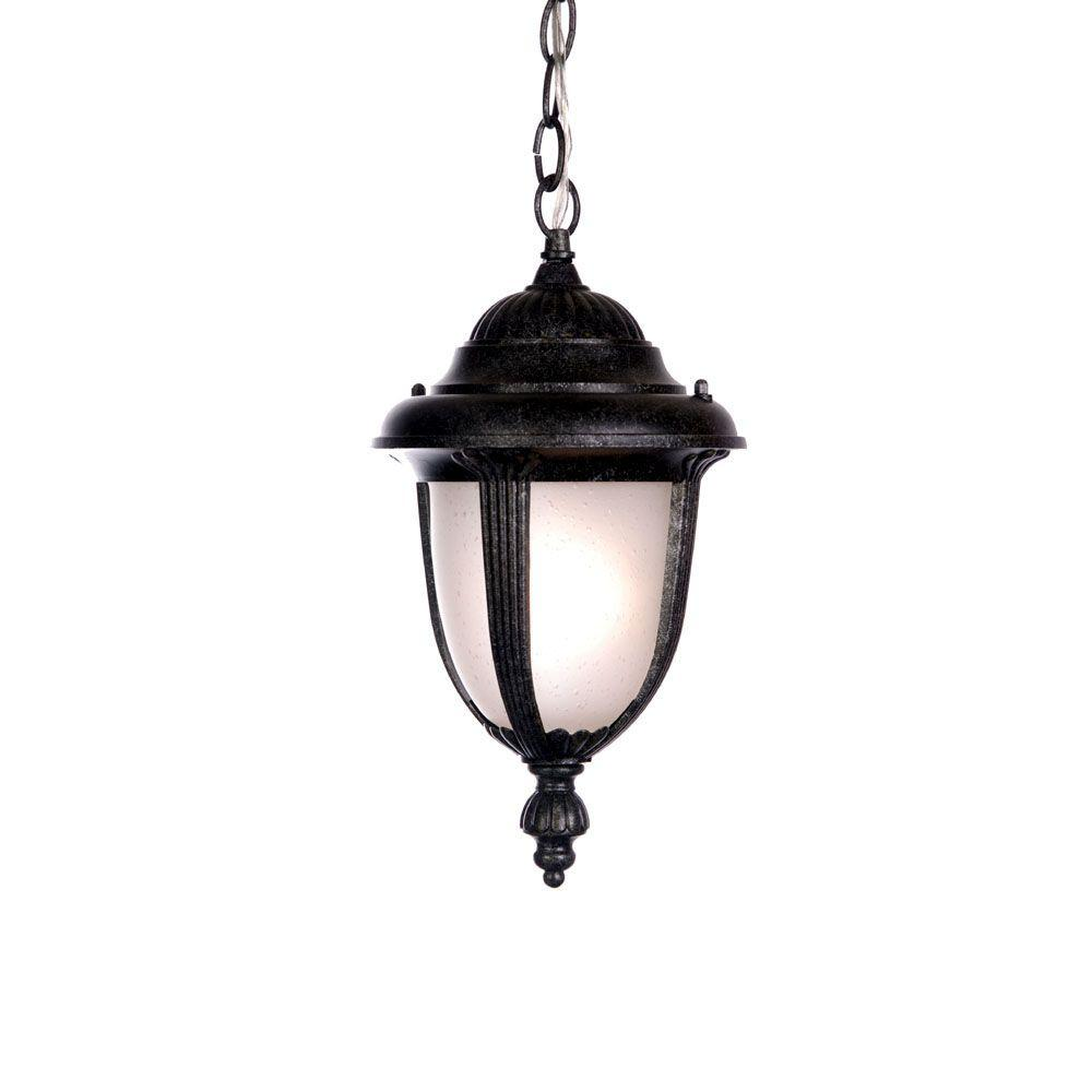 Acclaim Lighting Monterey Collection Hanging Lantern 1-Light Outdoor Stone Light Fixture