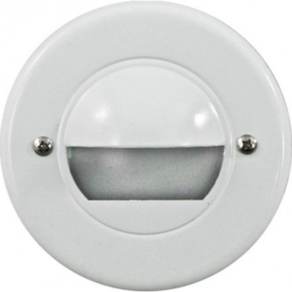 Ashler 15-Light White Outdoor LED Recessed Step Light