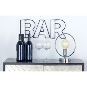 Indoor BAR Stencil-Style Outline Decorative Sign