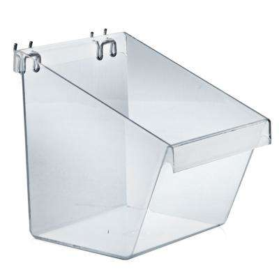 8 in. W x 6 in. D x 9 in. H Large Crystal Styrene Display Bucket (4-Pack)