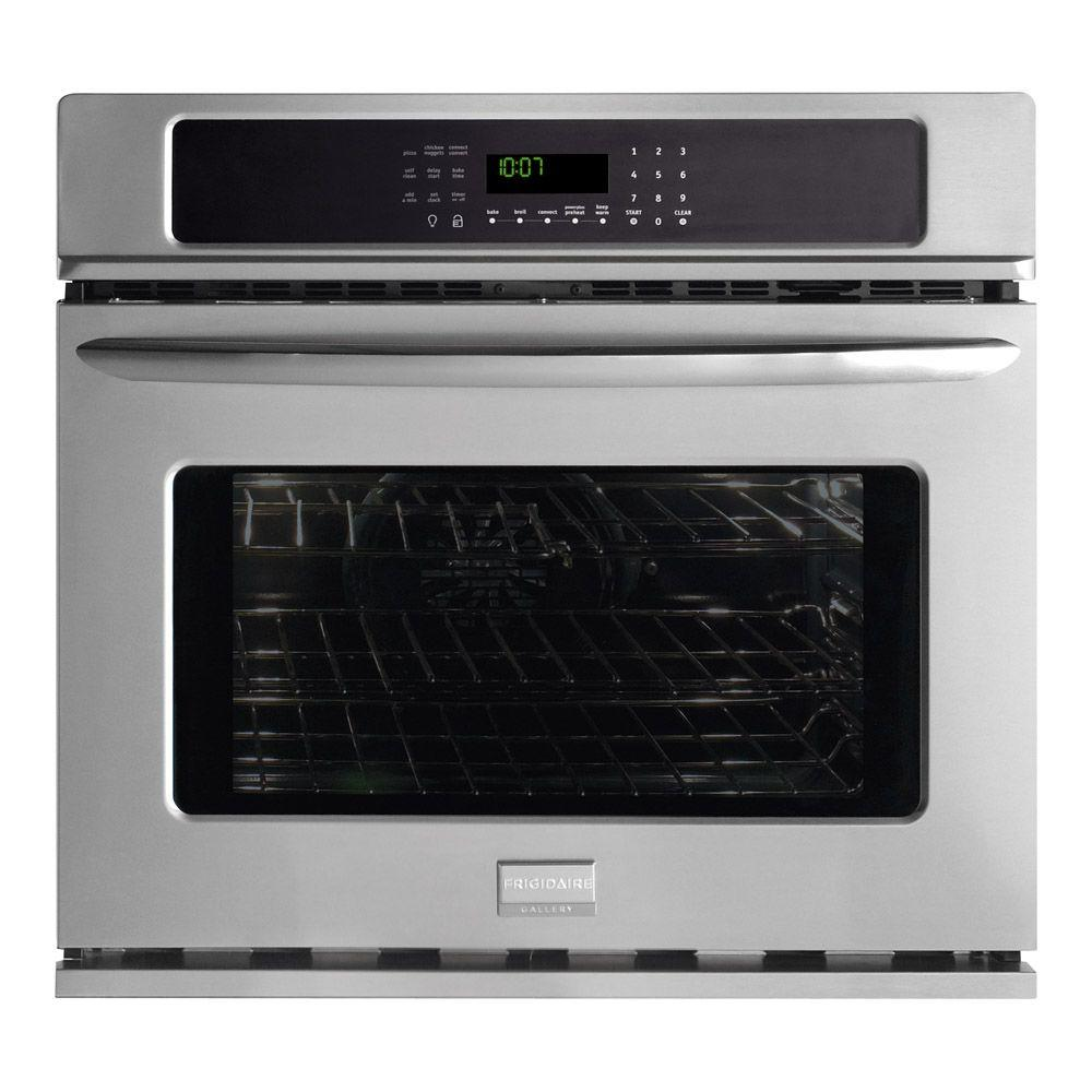 Frigidaire Gallery 30 in. Single Electric Wall Oven Self-Cleaning with Convection in Stainless Steel-DISCONTINUED