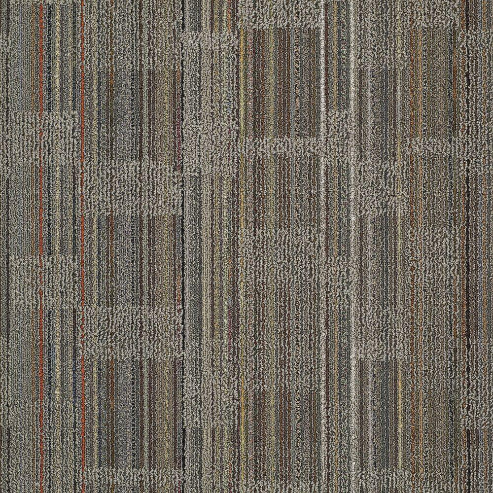 Designer Warm Gray Loop 24 in. x 24 in. Modular Carpet