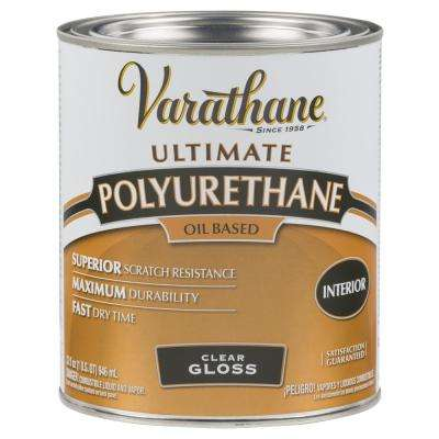 1 qt. Clear Gloss Oil-Based Interior Polyurethane (2-Pack)
