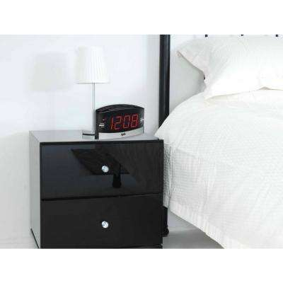 Black Large Readout Clock Radio with Alarm