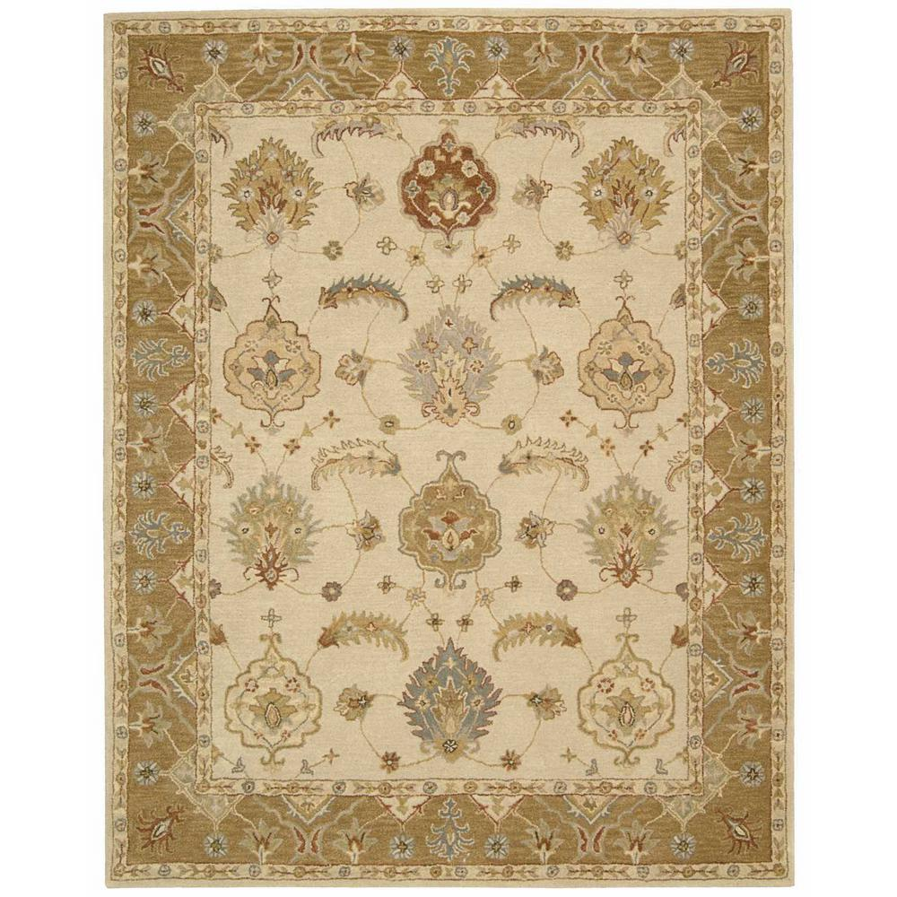India House Ivory/Gold 8 ft. x 10 ft. 6 in. Area
