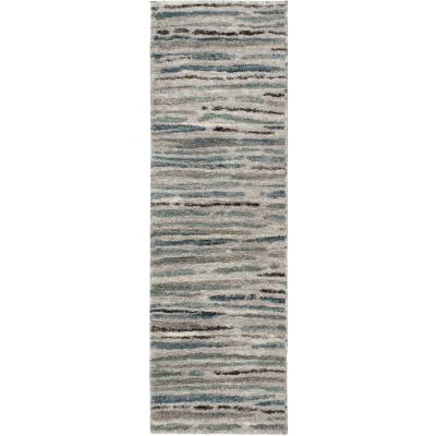 Shoreline Grey/Multi 2 ft. x 7 ft. Striped Runner Rug