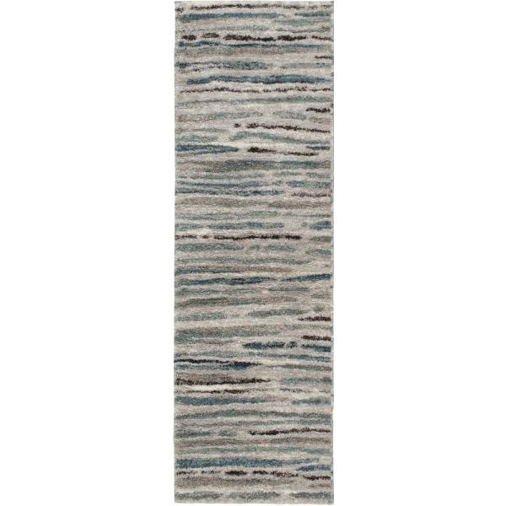 Shoreline Grey/Multi 2 ft. x 7 ft. Striped Runner Rug