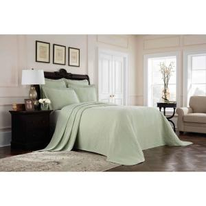 Williamsburg Richmond Green Solid King Coverlet