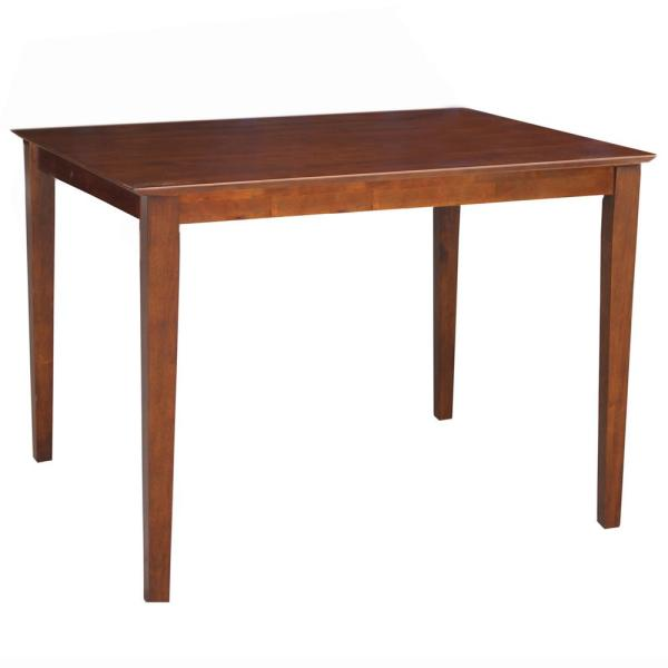 International Concepts Espresso Solid Wood Counter-Height Table K581-3048-36S