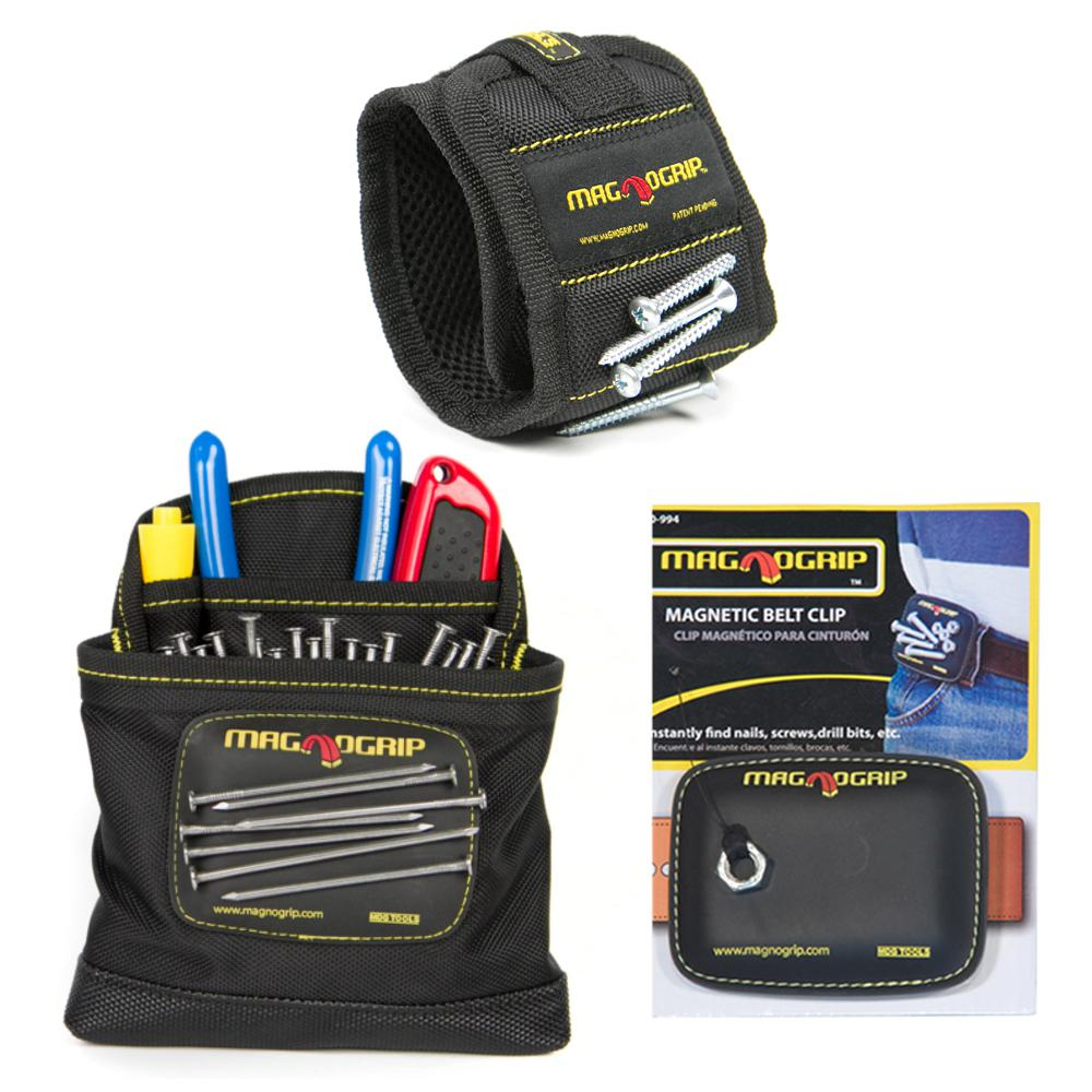 MagnoGrip Magnetic Wristband, Magnetic Belt Clip and Magn...