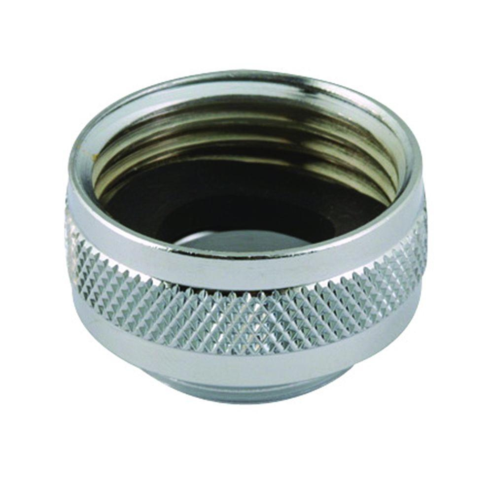 NEOPERL 3/4 in. x 55/64 in. - 27 in. Chrome-Plated Solid-Brass Hose ...