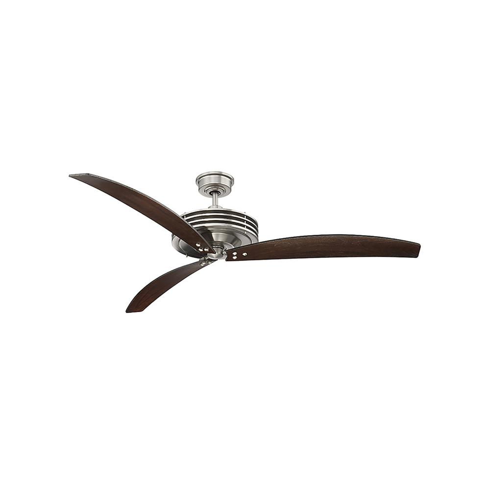 60 in. Satin Nickel Ceiling Fan