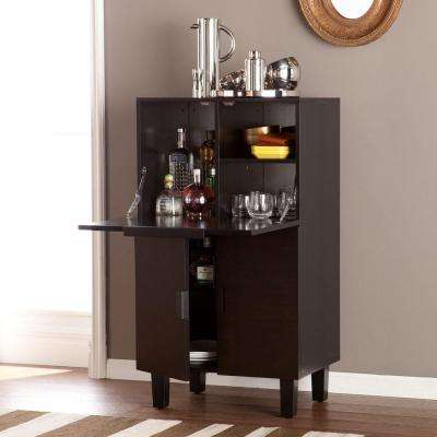 Salford Blackened Espresso and Black Bar with Expandable Storage