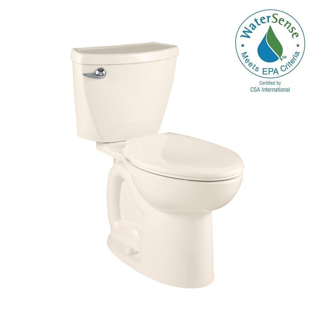 American Standard Cadet 3 Powerwash Compact Tall Height 2-piece 1.28 GPF Elongated Toilet in Linen