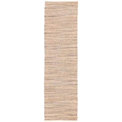 Natural Sandshell 3 ft. x 9 ft. Solid Runner Rug