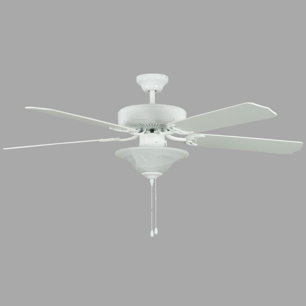 Heritage Square Series 52 in. Indoor White Ceiling Fan