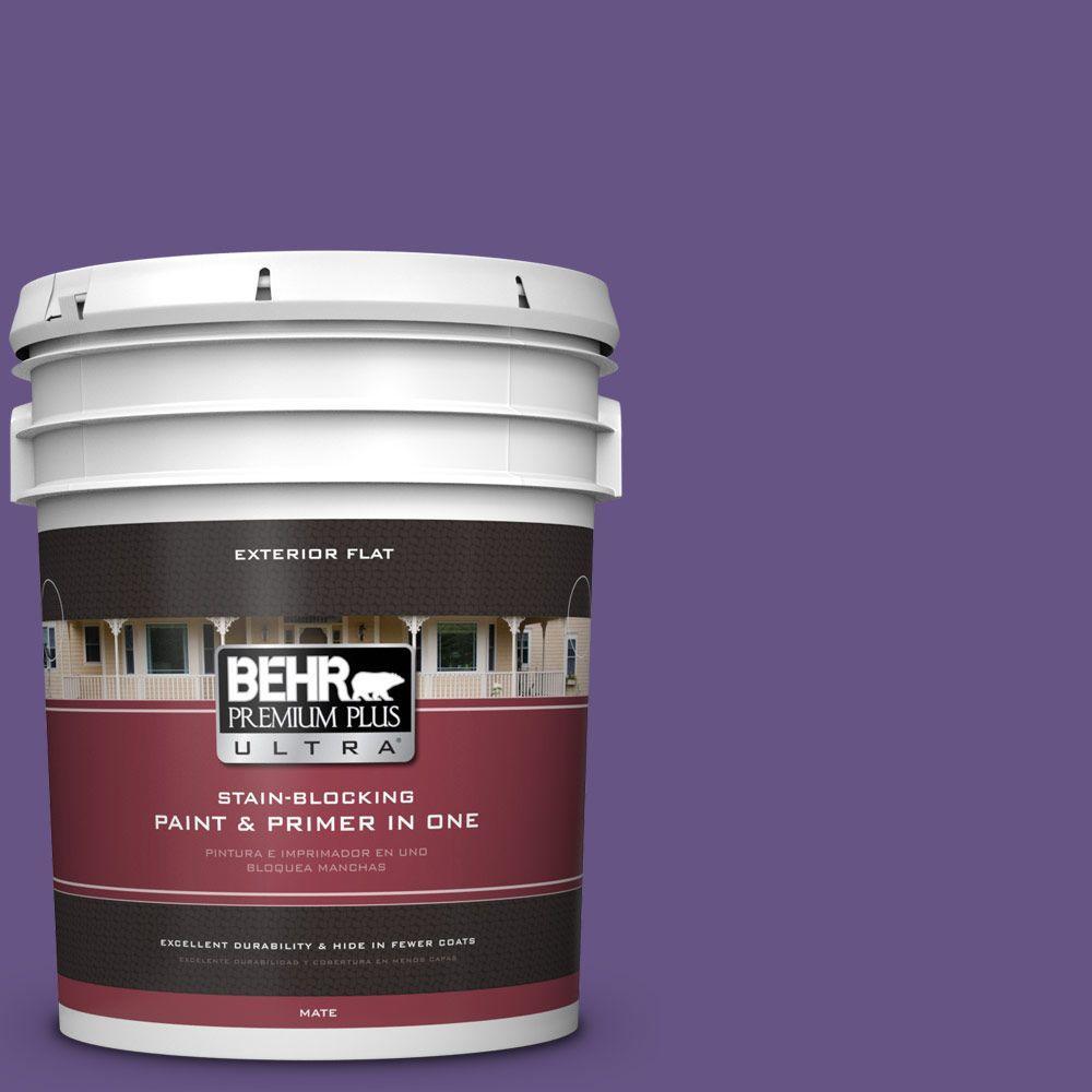5-gal. #640B-7 Berry Jam Flat Exterior Paint