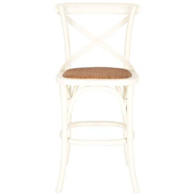 Franklin 24.4 in. Ivory Bar Stool