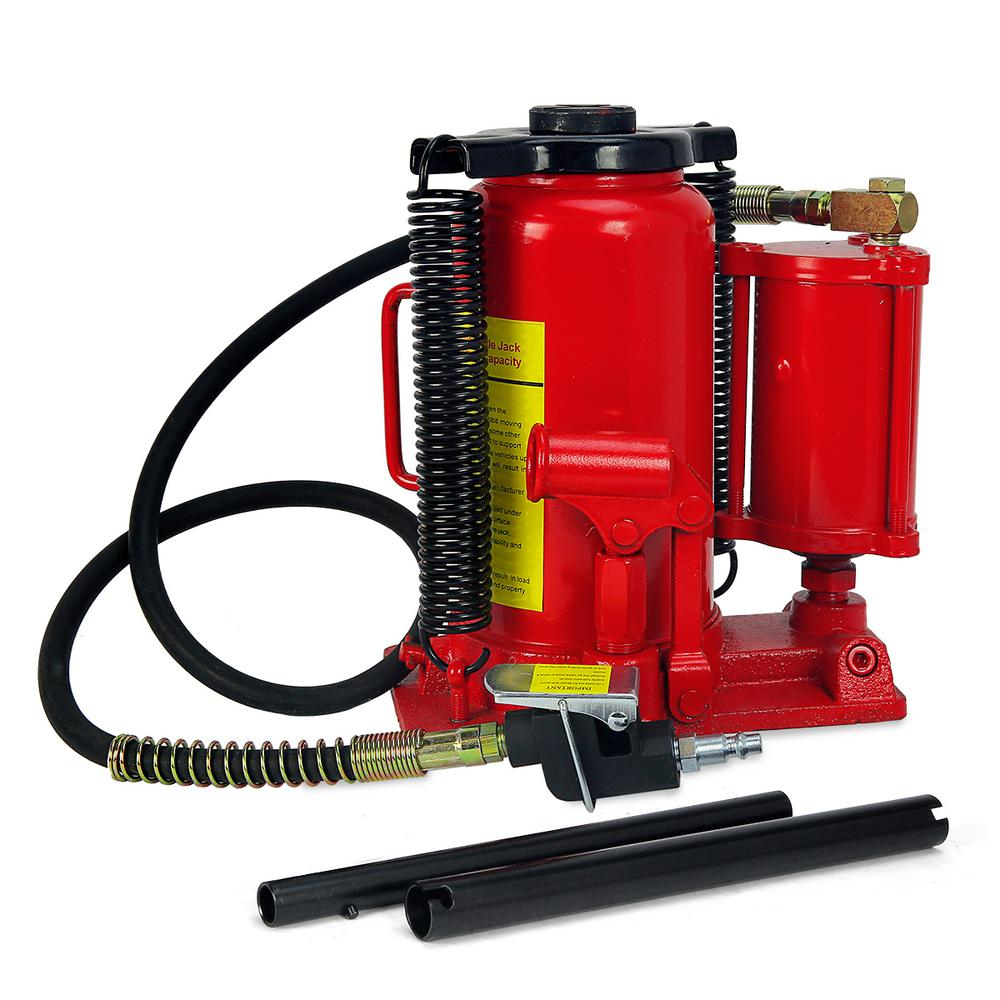 20-Ton Air Hydraulic Bottle Jack Manual Lifts Hoist