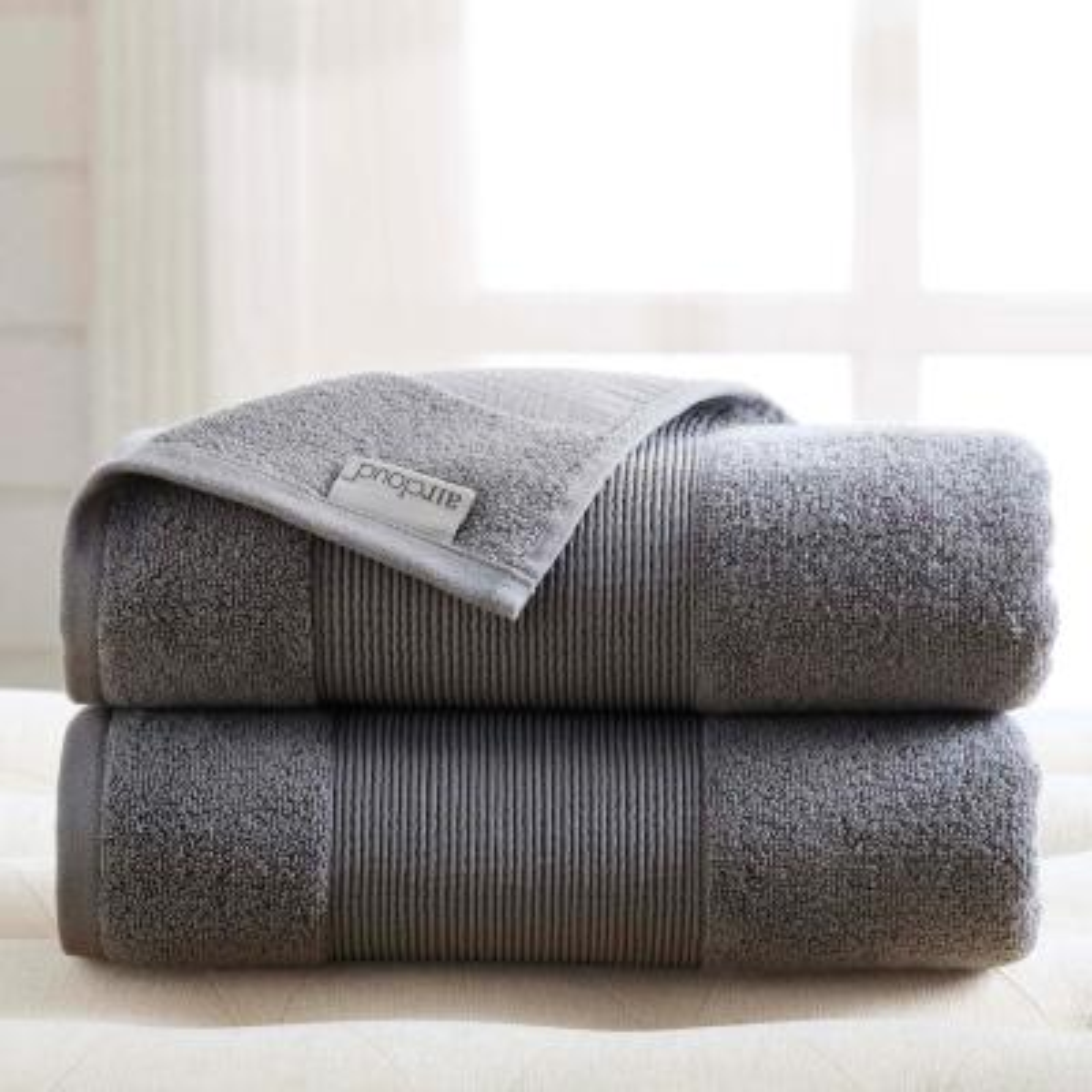 Air Cloud 2-Piece Charcoal Gray Oversized Bath Sheet